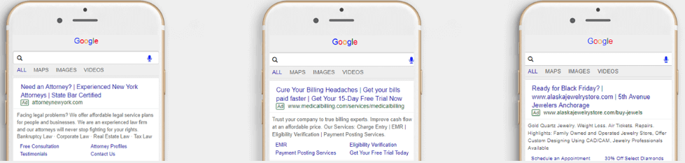 DigitalBullLeads Mobile Google Ads Preview