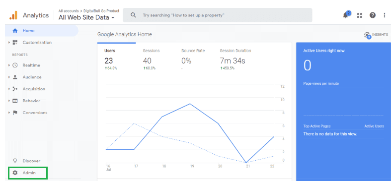 Google Analytics Integration Step 1
